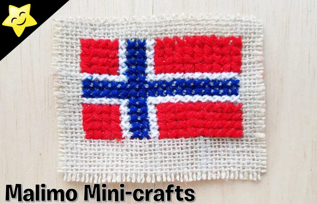 Broderi norsk flagg | Malimo Mini-crafts