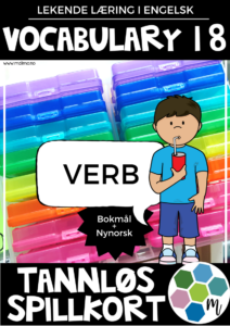 Vocabulary 18 - Verb - TANNLØS-spillkort